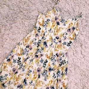 Old Navy Dresses - Old Navy White & Yellow Floral Print Spring Dress